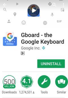 Uninstall Gboard the Google Keyboard app