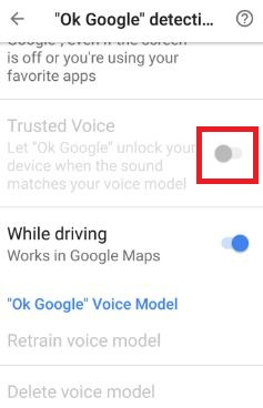 Use Ok Google to unlock your device