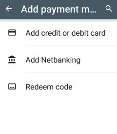 Add payment method in Play store to purchase apps or games