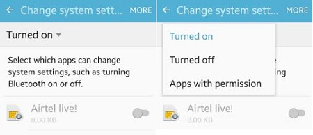 Enable or disbale app permission in marshmallow 6.0