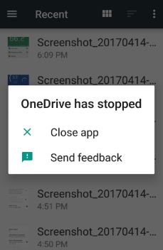Onedrive has stopped working android phone: How to fix