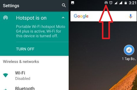 Turn on Wi-Fi hotspot in android 7.0 device