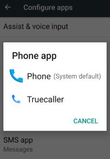 change default apps on android nougat