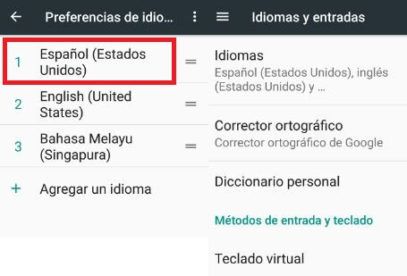change language on android nougat 7.0
