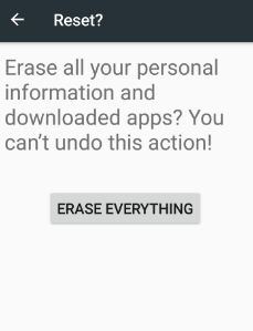 factory data reset android to fix rebooting issue