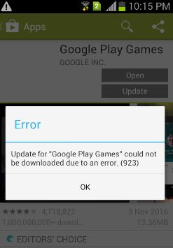 Fixed] android error 923 play store smartphone device code issue.