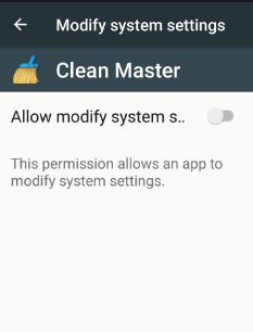 modify system settings android nougat