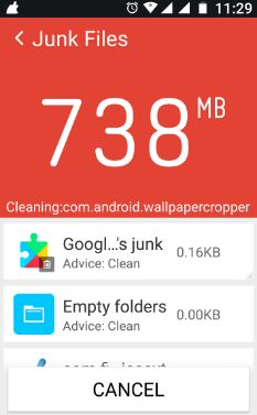 use clean master android nougat
