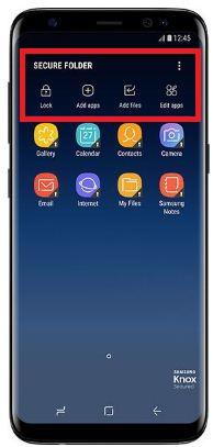 Access secure folder on galaxy S8 phone