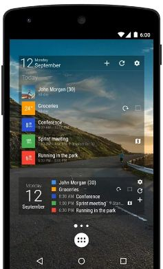 Business calendar app for android phone