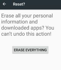Factory reset android phone to fix Google Play store error 500