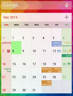 New calendar app for android nougat