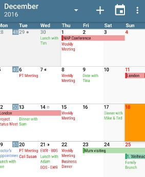 aCalendar app for android phone