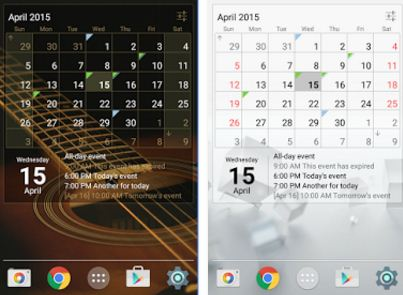 best android app for Calendar widget month plus agenda