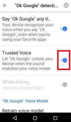 enable trusted voice in Google Assistant