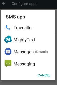 set default SMS app on android 7.0 Nougat