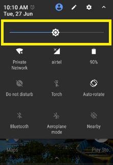 Reduce screen brightness on Google pixel phone