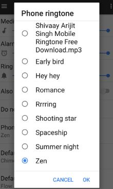 Set phone ringtone in Pixel XL phone