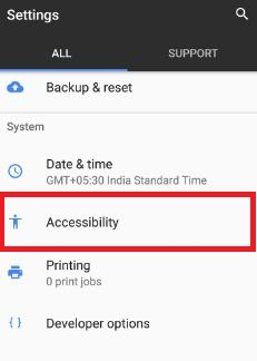 Tap accessibilty under system settings in your pixel device