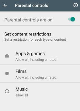 enable parental controls on Google Pixel phone