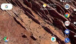 Enable landscape home screen on Google Pixel XL