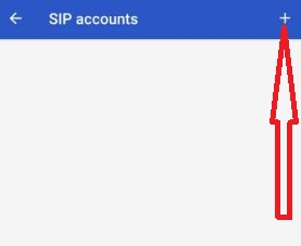 Tap plus icon in SIP accounts option in pixel
