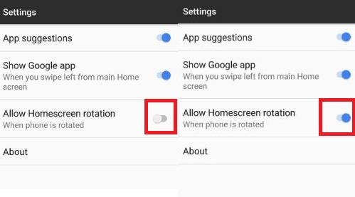 enable home screen rotation on Pixel XL