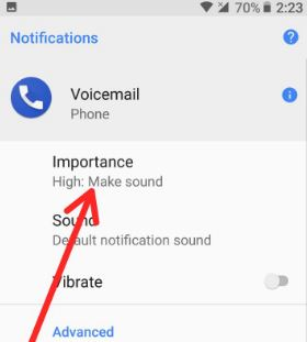 Change importance notification Android 8.0 Oreo for calls
