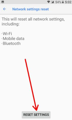Reset settings in your android 8.0 Oreo device