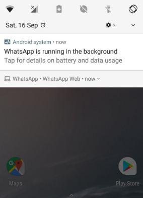 Stop WhatsApp app running in background in android 8.0 Oreo