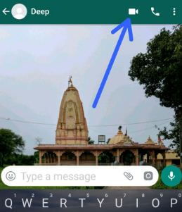 Tap video call in WhatsApp on your android phone