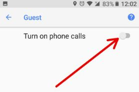 Turn on phone calls while use Guest mode in Oreo
