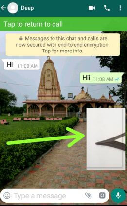 Use picture-in-picture mode in WhatsApp android device