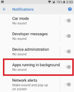 How to disable persistent notification on android Oreo