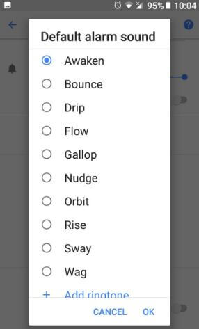 Change default alarm sound on Pixel 2 and Pixel 2 XL Oreo