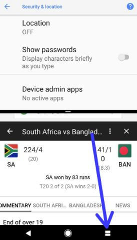 Disable split screen view on android Oreo 8.0