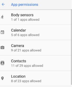 How to manage app permissions on android 8.0 Oreo