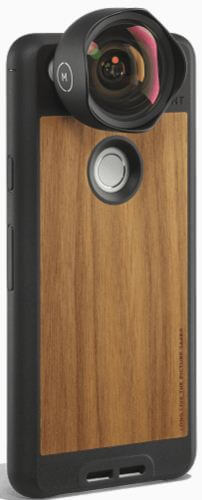 Walnu case with lens kit for Pixel 2