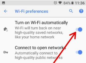 Enable Wi-Fi automatically on android Oreo 8.1