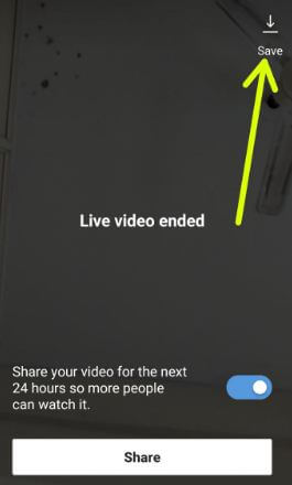 Save Instagram live streams on android phone