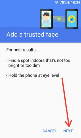 Use facial recognition on android 8.1 Oreo