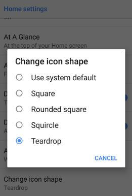 Change icon shape on android 8.1
