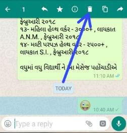 Delete WhatsApp sent messages on android phone