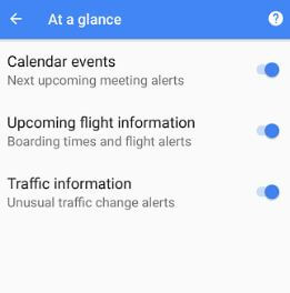 Disable at a glance in android 8.1 Oreo