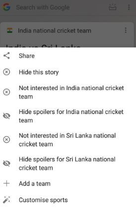 Hide Google now feed in android phone