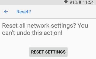 Reset Pixel 2 settings in Oreo