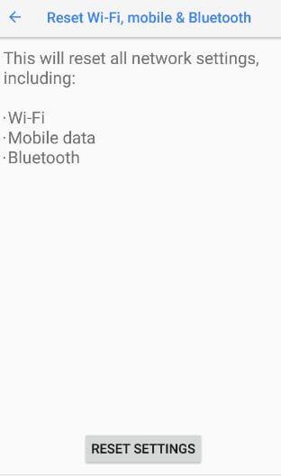 Reset settings on Google Pixel 2