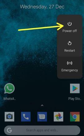Restart safe mode your Pixel 2 device