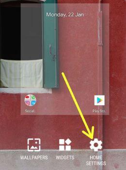 Android Oreo 8.1 home screen settings