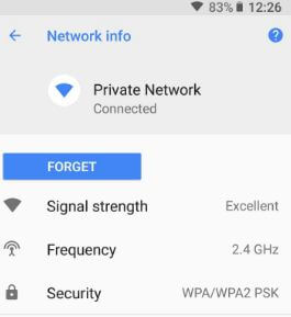 Display public Wi-Fi network speed in android Oreo